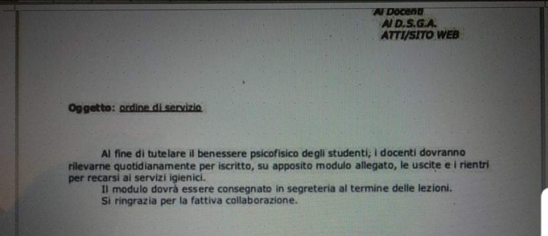 Milano Positiva, a scuola il controllo per andare in bagno