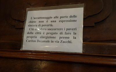 Milano Positiva, l'accattonaggio  può essere vietato dalla Chiesa?