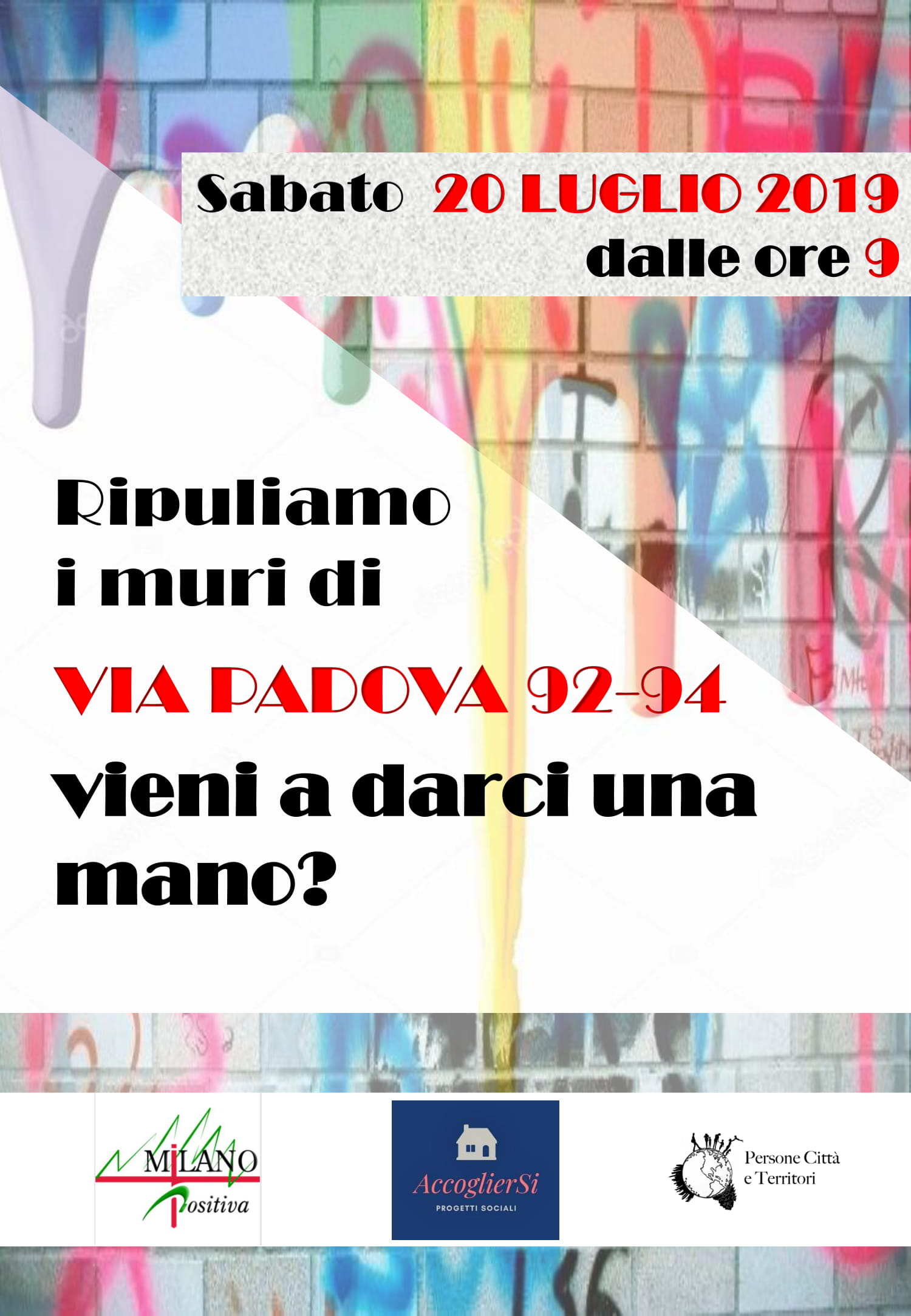 Ripuliamo i muri di Via Padova