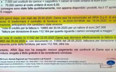 Regione Lombardia e l'appalto che diventa donazione