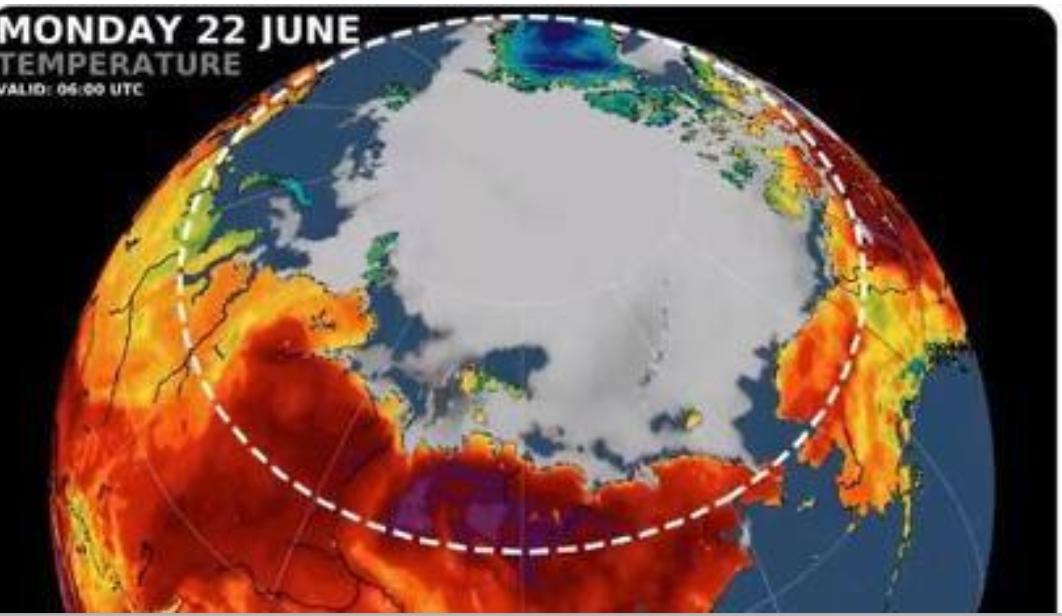 38 gradi al circolo polare artico e il problema è il Covid